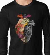 Camiseta de manga larga Flor corazón primavera