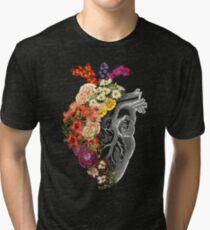 Flower Heart Spring Tri-blend T-Shirt