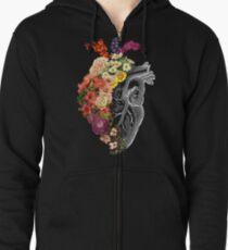 Flower Heart Spring Zipped Hoodie
