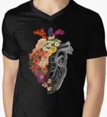 Flower Heart Spring Men's V-Neck T-Shirt