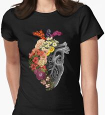 Flower Heart Spring Fitted T-Shirt