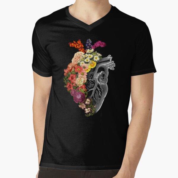 Flower Heart Spring V-Neck T-Shirt