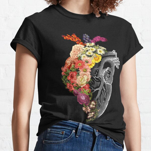 Flower Heart Spring Classic T-Shirt