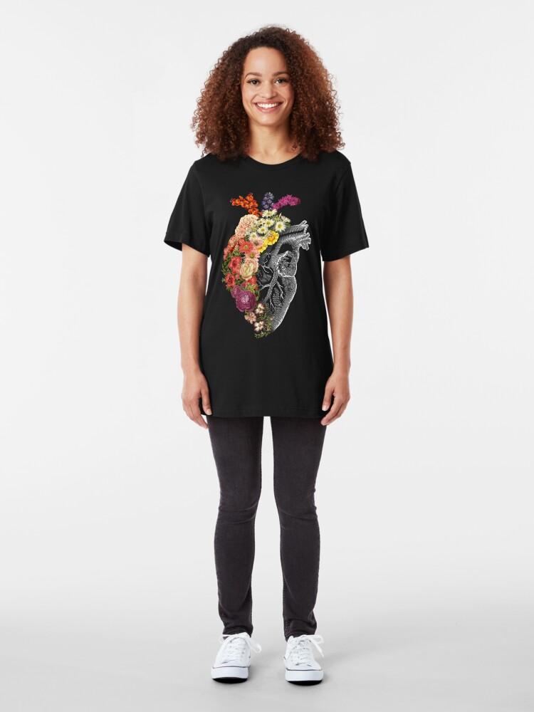 Alternate view of Flower Heart Spring Slim Fit T-Shirt
