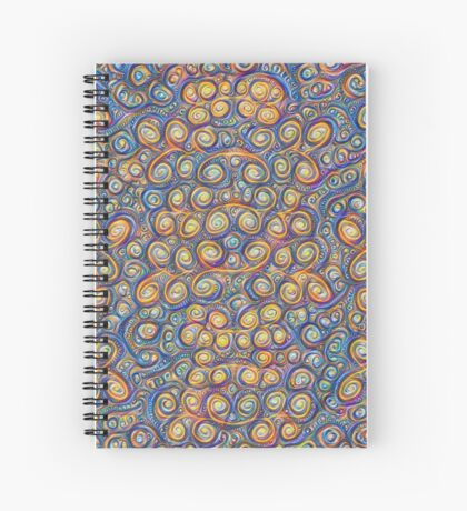 Grapes #DeepDream #Art Spiral Notebook