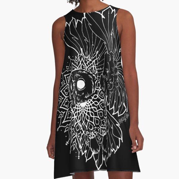 Space Owl A-Line Dress