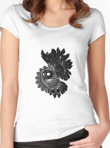 Space Owl Women's Fitted Scoop T-Shirt