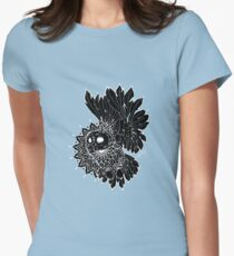 Space Owl Womens Fitted T-Shirt