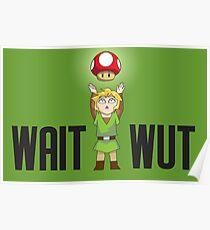 Zelda/Mario - Wait WUT Poster