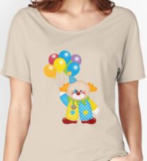 Cute Circus Clown with Balloons Women's Relaxed Fit T-Shirt