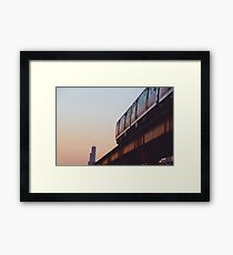 Chicago L Train Framed Print
