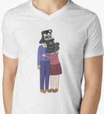 Camera Couple V-Neck T-Shirt