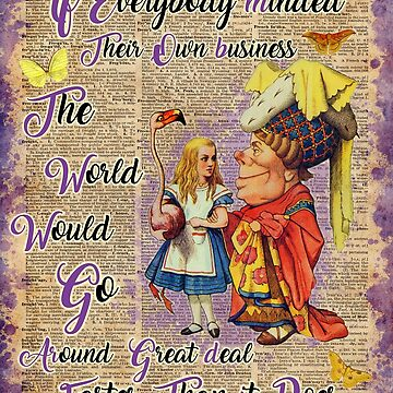 Alice with The Duchess Vintage Dictionary Art by DictionaryArt