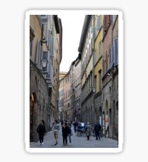 Busy street in Siena, Tuscany Sticker