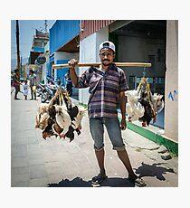 Poultry Vendor Photographic Print