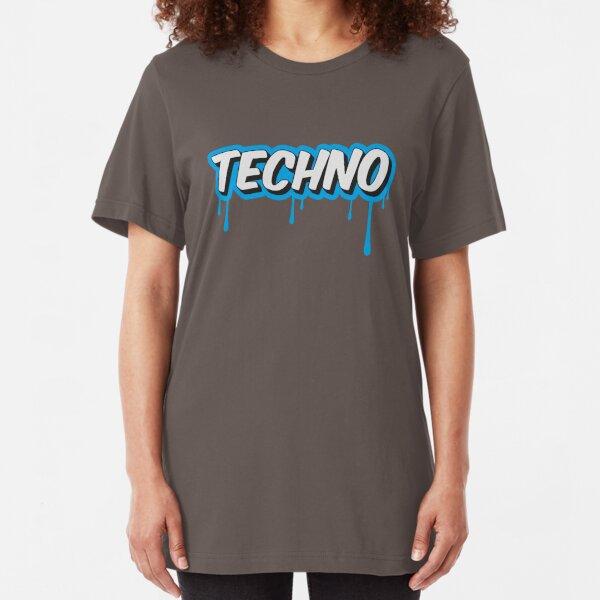 TECHNO - PARTY - RAVE - EDM Slim Fit T-Shirt