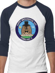 Happy GroundHog Day February 2 Men's Baseball ¾ T-Shirt