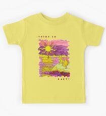 SUNSET OCEAN SEASCAPE HUMOR SHINE ON BABY! Kids Tee