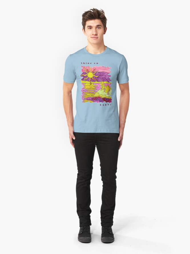 Alternate view of SUNSET OCEAN SEASCAPE - SHINE ON BABY! Slim Fit T-Shirt