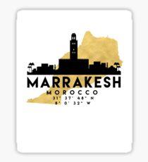 MARRAKESH MOROCCO SILHOUETTE SKYLINE MAP ART  Sticker