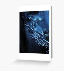 Morning blue ice Greeting Card
