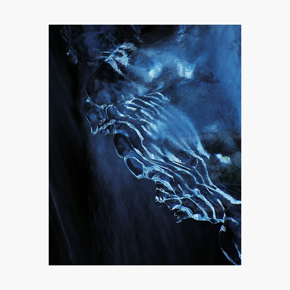 Morning blue ice Photographic Print