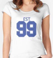 Est. 99 blue Women's Fitted Scoop T-Shirt