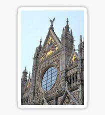 Ornate church in Siena Sticker