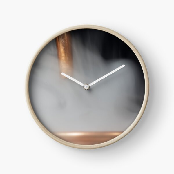 Copper pipe with steam Clock