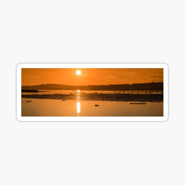 Saturday Morning along the estuary pano Sticker