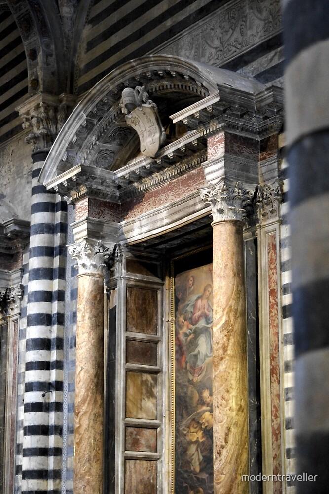 Marble church interior, Siena by moderntraveller