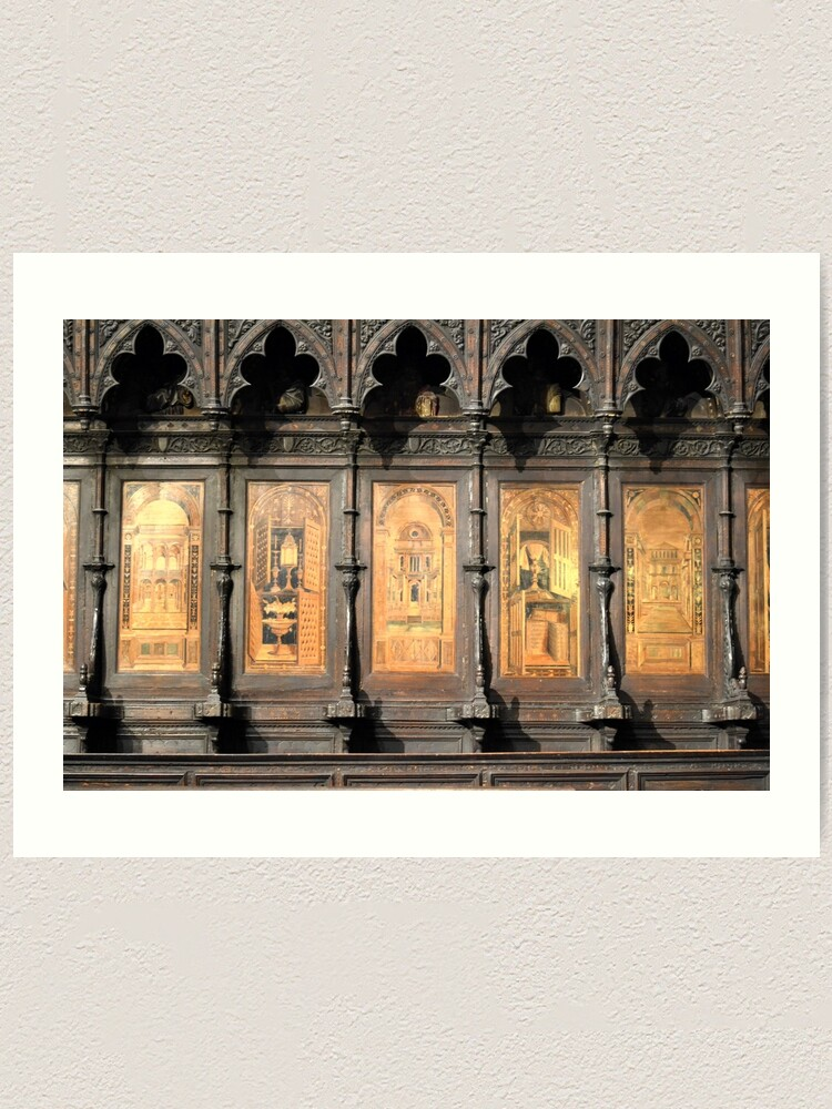 Alternate view of Wooden church alter, Siena Art Print