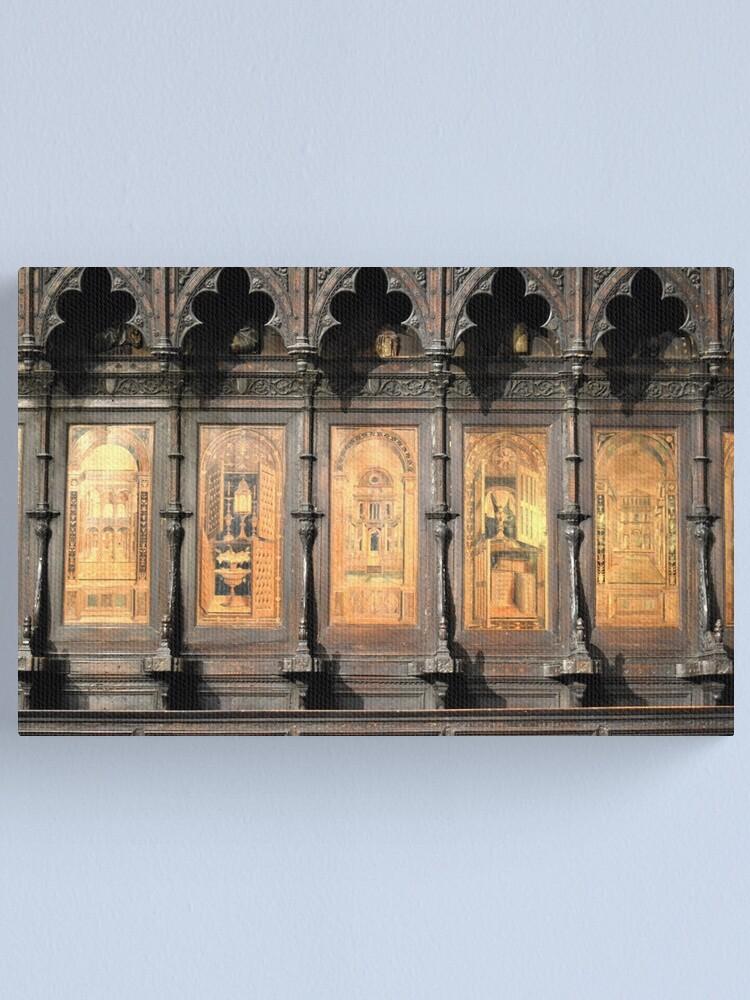 Alternate view of Wooden church alter, Siena Canvas Print