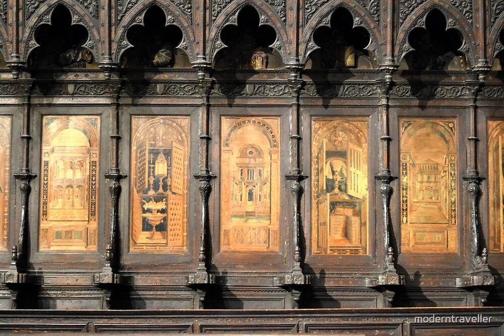 Wooden church alter, Siena by moderntraveller
