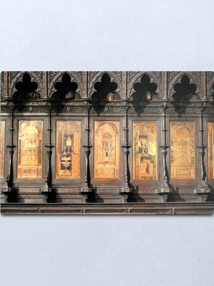Alternate view of Wooden church alter, Siena Metal Print