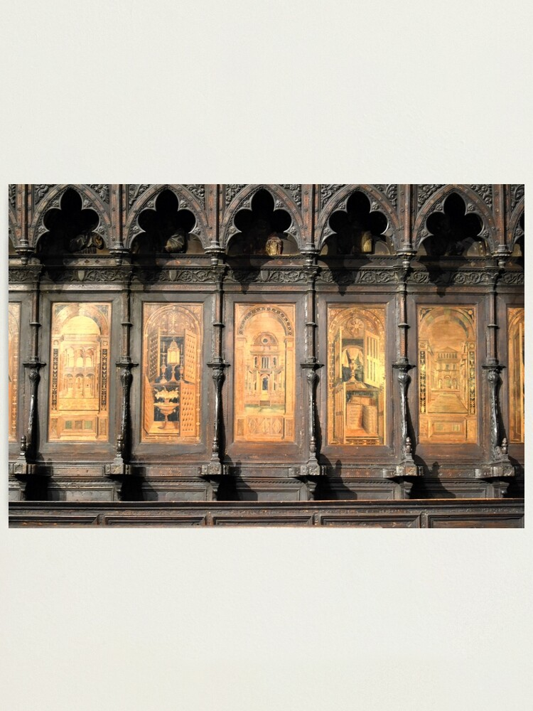 Alternate view of Wooden church alter, Siena Photographic Print
