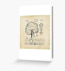 Winnie the Pooh - A Day Spent with You Greeting Card