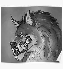 Werewolf Portrait Poster