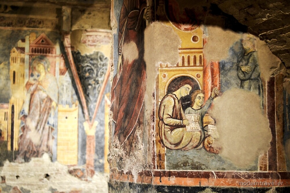 Faded church painting, Siena by moderntraveller