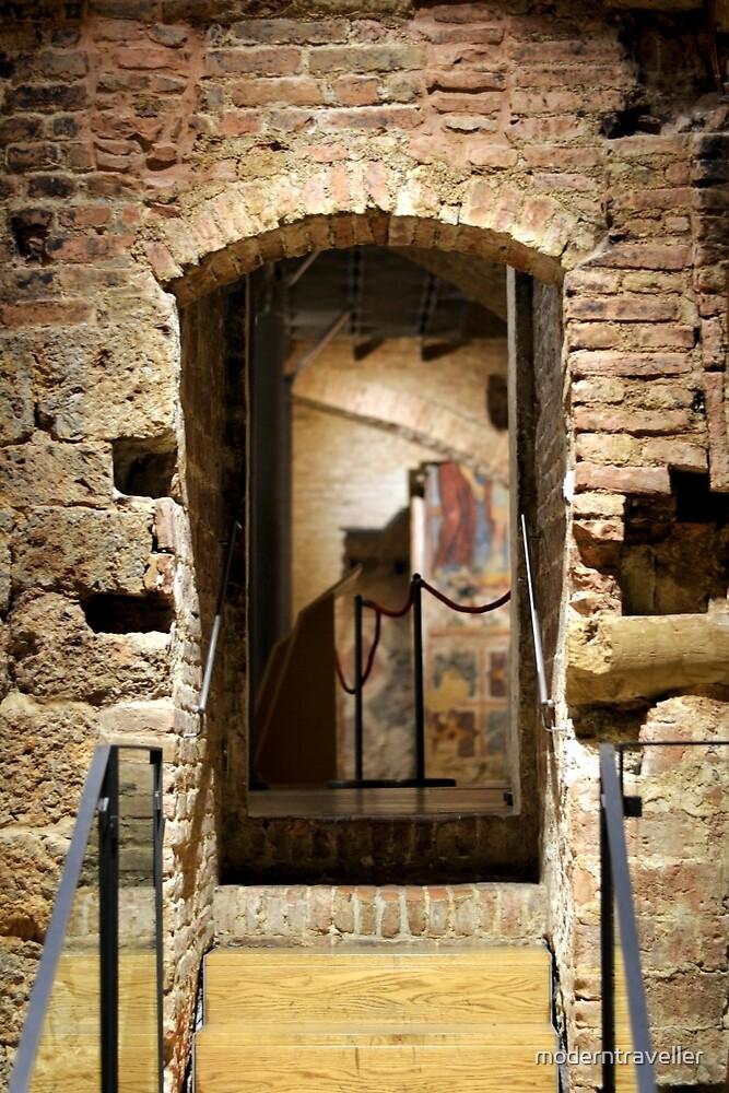 Vaulted church crypt, Siena by moderntraveller