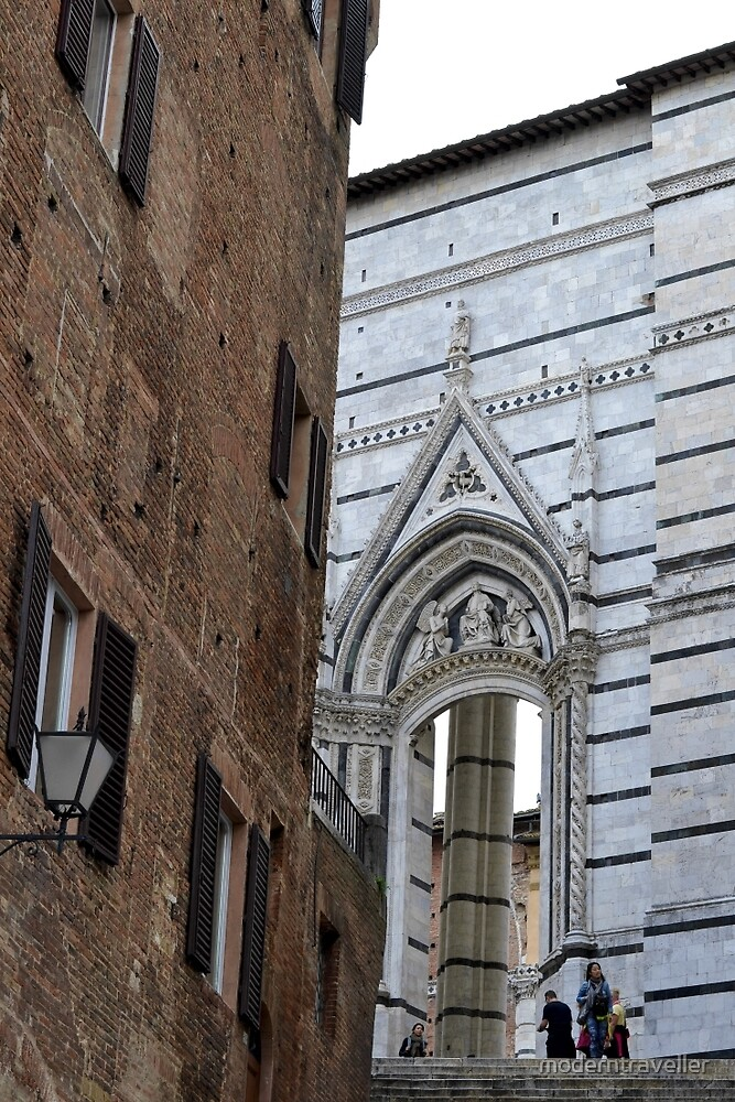 Church walls and buildings, Siena by moderntraveller