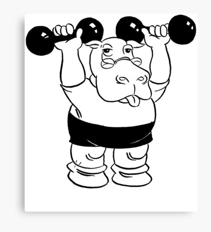 Hippo Workout Canvas Print