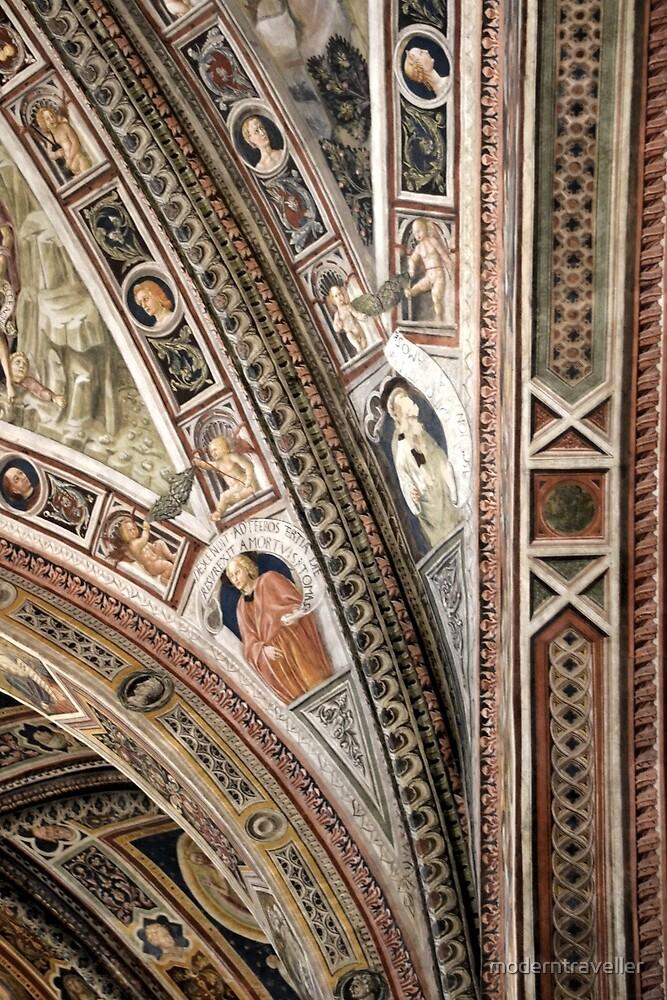 Ornately painted church interior by moderntraveller