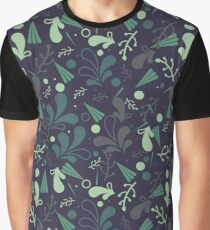 Simple cute seamless pattern in light green leaves. Graphic T-Shirt