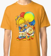 "Vintage ""Up, Up & Away"" Rainbow Brite, Sprite, Twink, White, Colorful, Bright, Retro, Yellow, Gold, Mustard, 80's, Cartoon, Babies, Throwback, Pop Culture, My Childhood   Classic T-Shirt"