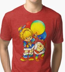 """Vintage """"Up, Up & Away"""" Rainbow Brite, Sprite, Twink, White, Colorful, Bright, Retro, Yellow, Gold, Mustard, 80's, Cartoon, Babies, Throwback, Pop Culture, My Childhood   Tri-blend T-Shirt"""