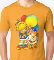 "Vintage ""Up, Up & Away"" Rainbow Brite, Sprite, Twink, White, Colorful, Bright, Retro, Yellow, Gold, Mustard, 80's, Cartoon, Babies, Throwback, Pop Culture, My Childhood   Unisex T-Shirt"