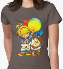 """Vintage """"Up, Up & Away"""" Rainbow Brite, Sprite, Twink, White, Colorful, Bright, Retro, Yellow, Gold, Mustard, 80's, Cartoon, Babies, Throwback, Pop Culture, My Childhood   Womens Fitted T-Shirt"""
