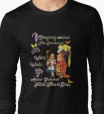 Alice with The Duchess Vintage Dictionary Art Long Sleeve T-Shirt