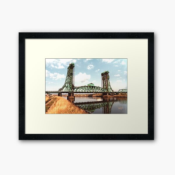Newport Bridge. Framed Art Print